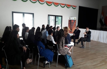 Ahmedabad University students visit Embassy