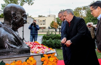 Gandhi Jayanti at the Embassy
