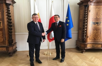 During his visit to Krakow from 30 March -1 April, Ambassador Tsewang Namgyal met the Marshall of Malopolskiego Region, Mr. Witold Kozlowski and the Mayor of Krakow Mr. Jacek Majchrowski 4th April 2019