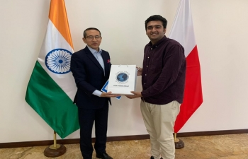 Representatives of the Indian students of Vistula University called on the Ambassador 16 May 2019