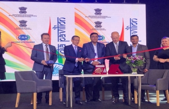 On 24 May, 2019, Ambassador of India, Mr Tsewang Namgyal, along with Mr. Tomasz Szpua, Chairman of the Board, PTAK Warsaw Expo inaugurated the India Pavilion at the Warsaw Gifts and Deco Trade Fair being held at PTAK Warsaw 24 May 2019