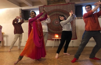 Embassy Kathak dance teacher and performer Ms. Jigna Dixit gave a lecture-demonstration and also conducted a workshop at the 11th edition of MESIC conference at the University of Adam Mickiewicz in Pozna 20th May 2019