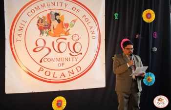 The Tamil Community of Poland organised a function in Warsaw on 13 April to commemorate the Tamil New Year celebrations. Convrying Embassys new year greetings, Shri V.S.D.L. Surendra, First Secretary applauded the efforts of the Tamil community for strengthening their cultural roots and adapting well to the Polish society 15 April 2019