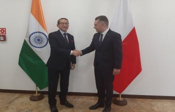 Ambassador met today Member of Parliament Mr. Wojciech Krl. Mr. Krl is a member of the Polish-Indian Parliamentary Group 16 May 2019