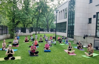 Regular yoga classes are being conducted in Embassy premises and at Lazienki Park by Embassys Yoga Teacher Kirti Gahlawat. For registration and schedule, please write to icc1.warsawmea.gov.in