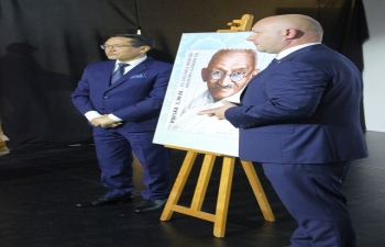 Polish Post (Poczta Polska )issued a Commemorative Stamp on the 150th Birth Anniversary of Mahatma Gandhiji which was released on the occasion of Gandhi Jayanti on 2nd October, 2019 at the Embassy by Vice President of the Board of Polish Post, Mr. Tomasz Cicirko and Ambassador.