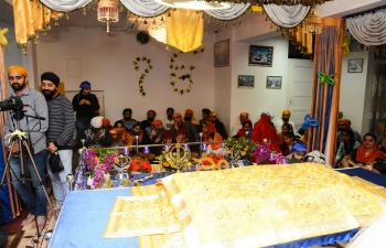 Celebrations of the 550th Prakash Purab of Guru Nanak Dev ji, the Embassy of India and Gurudwara Sahib of Poland jointly organised a function on Sunday, 10th November at Gurudwara Sahib, Na Skraju, Raszyn, Poland.