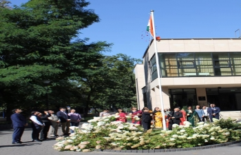Independence Day was celebrated at the Embassy of India, Warsaw. On this occasion, Ambassador planted trees in the Embassy premises. The celebrations also included reading out of the speech delivered by the President on the eve of Independence Day and a cultural programme in which staff members of the Embassy and their family members performed. The programme was live streamed on the Facebook Page of Mission.